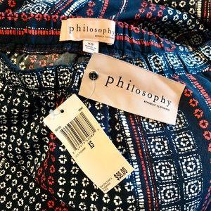 Philosophy Pants - NWT Philosophy Silky Print Pants